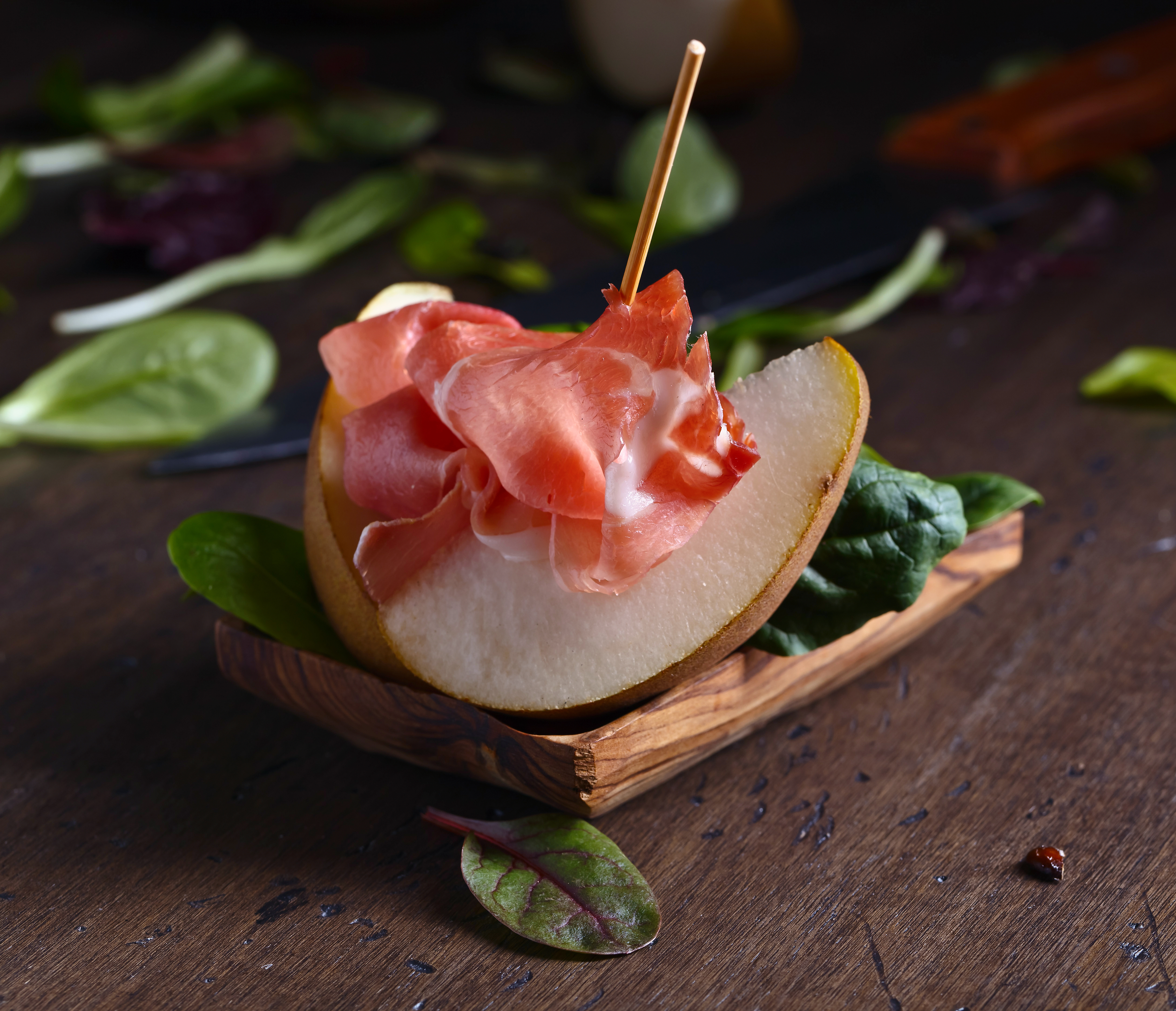 prosciutto with pear
