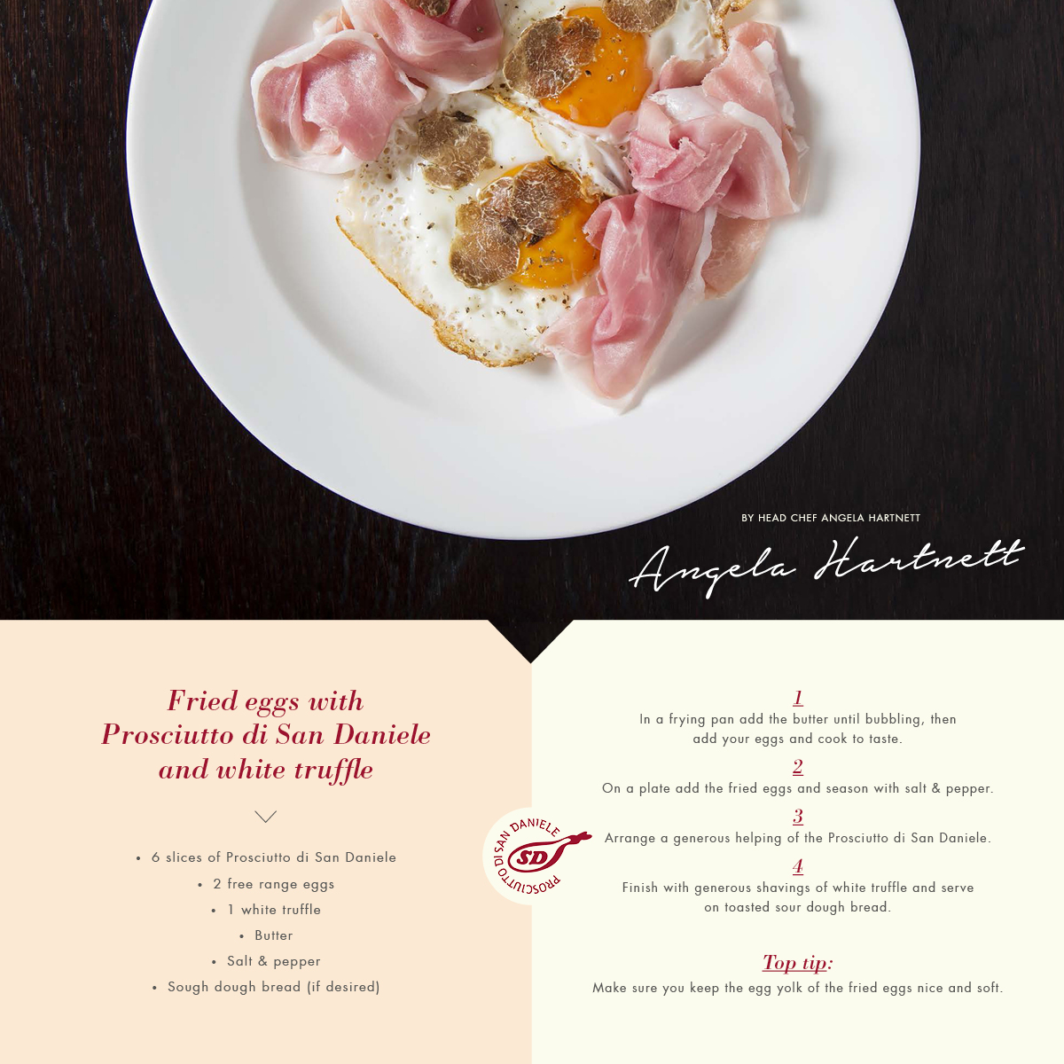 Angela Hartnett recipe for Prosciutto di San Daniele